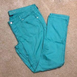 Size 16 AE aqua skinny jeans
